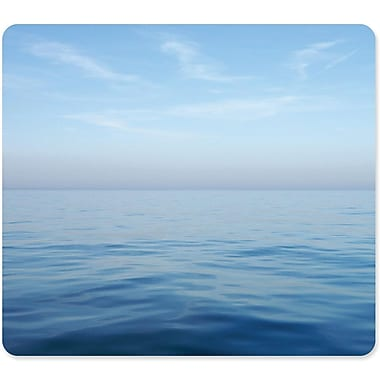 Fellowes® 0.1in.(D) Nonskid Base Recycled Rubber Themed Mouse Pad, Multicolor, Blue Ocean