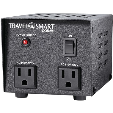 Conair® Travel Smart® 500 W Step-Down Transformer, 220 VAC Input, 110 VAC Output