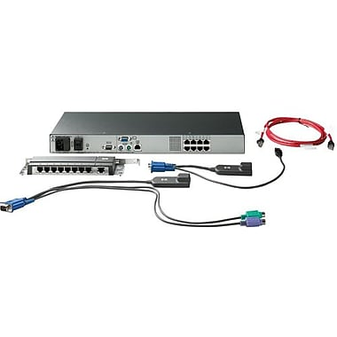 HP® AF616A Server Console KVM Switch, 8 Ports