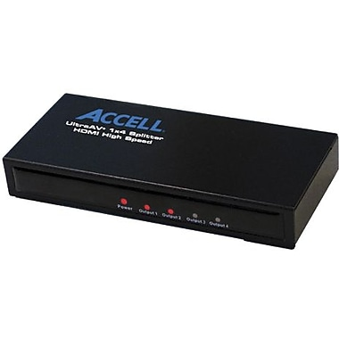 Accell® UltraAV® K078C-004B Mini 1 x 4 HDMI Audio/Video Splitter
