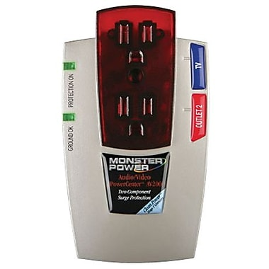 Monster® PowerCenter™ MP AV 200 2-Outlet 1110 Joule Surge Suppressor