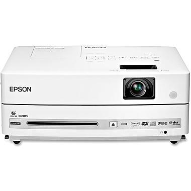 Epson® V11H335120 LCD Projector/DVD Player Combo, WXGA