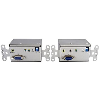 StarTech STUTPWALLA VGA Over Cat 5 Wall Plate Video Extender With Audio, 1 Port