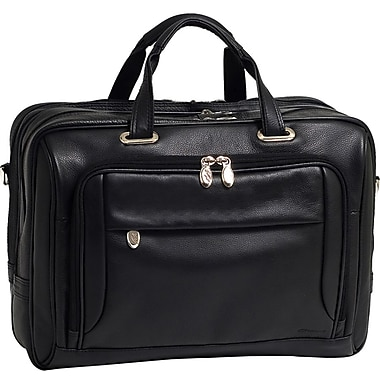 McKlein® West Loop I Series 44575 Expandable Double Compartment Briefcase For 17in. Laptop
