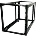Startech.Com® 4POSTRACK12A Open Frame Rack Cabinet With Adjustable Posts and Casters