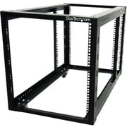 StarTech 4POSTRACK12A Open Frame Rack Cabinet With Adjustable Posts and Casters