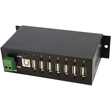 Startech.com® ST7200USBM Mountable Rugged Industrial USB 2.0 Hub, 7 Ports