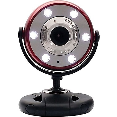 Gear Head™ WC1200 Webcam, 800 x 600, 1.3 MP, Red/Black