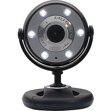 Gear Head™ WC1300-CP10 Webcam, 800 x 600, 1.3 MP, Black