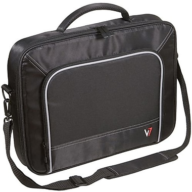 V7® CCP1-9N 16in. Professional Laptop Case, Black/Grey