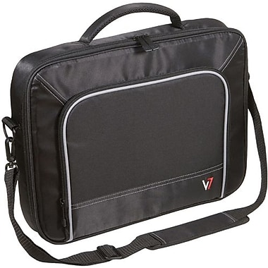 V7® CCP2-9N 17in. Professional Laptop Case, Black/Grey