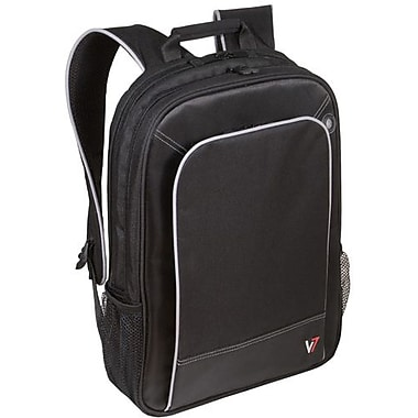 V7® CBP2-9N Professional Backpack For 17in. Notebooks, Black/Gray
