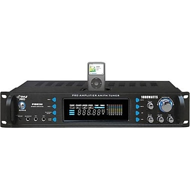 Pyle® P1002AI Hybrid Receiver and Pre-Amplifier With AM-FM Tuner/iPod Docking Station, 1000 W