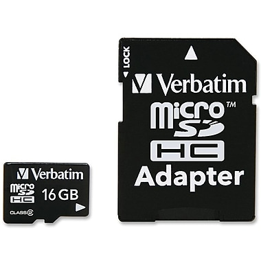 Verbatim® 97180 MicroSD High Capacity Flash Memory Card, 16GB