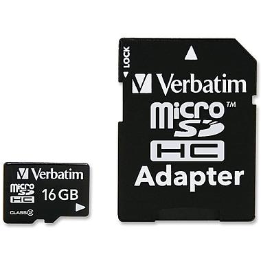 Verbatim® 97180 MicroSD High Capacity Flash Memory Card, 16GB
