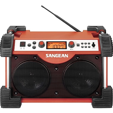 Sangean FB-100 FM/AM Radio Tuner, Red