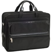 McKlein® Elston P Series Nylon Double Compartment 17 Laptop Case, Black