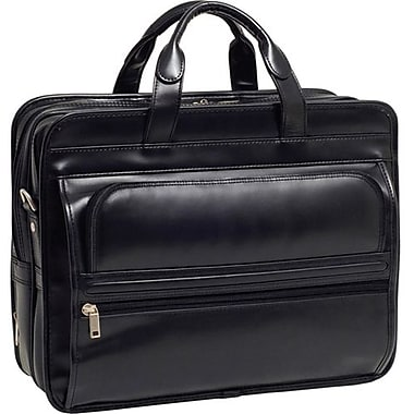 McKlein® Elston P Series Leather Double Compartment 17in. Laptop Case, Black