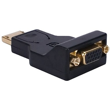QVS DPVGA-MF DisplayPort to VGA Digital Video Adaptor, Black