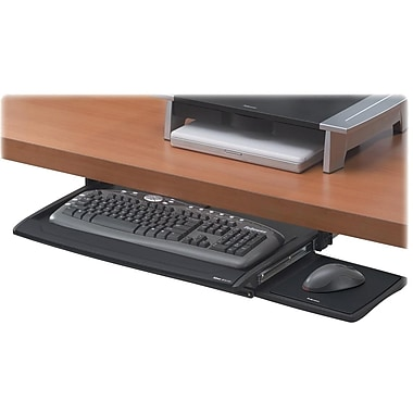 Fellowes® Office Suites™ Deluxe Keyboard Drawer, Black/Silver, 30.88in.(W) x 14.06in.(D)