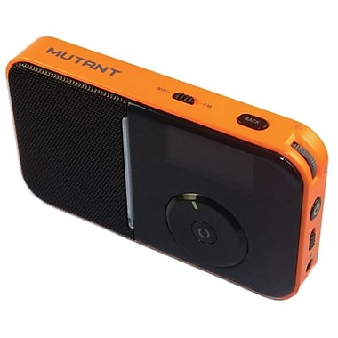 Mutant™ M-Wavio Pocket Internet and FM Radio, Tangerine