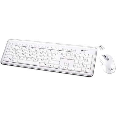 i-rocks RF-6577L-WH USB RF Wireless Keyboard and Laser Mouse, White