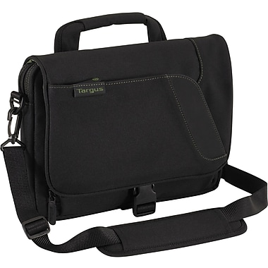 Targus® Spruce EcoSmart™ TBM022US Mini Messenger, Black/Green