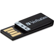 Verbatim® Clip-it 97555 USB 2.0 Black Flash Drive, 4GB