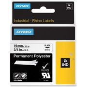 Dymo® RhinoPro 18484 0.75(W) Polyester Permanent Tape, Black On White