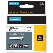 Dymo® RhinoPro 18489 0.75(W) Flexible Wire and Cable Label Tape, Black On White