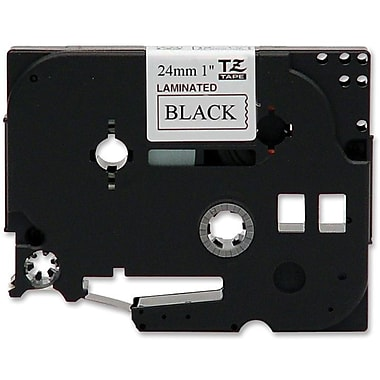 Brother® TZE 0.94in.(W) Label Tape, Black On White