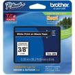 Brother® TZE 0.35in.(W) Label Tape Cartridge, White On Black