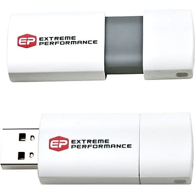 EP Memory EPCLW USB 2.0 Capless Wave White Flash Drive, 32GB