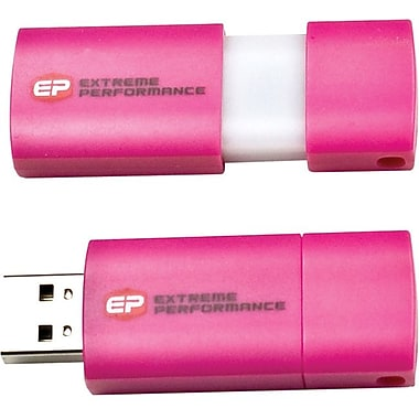 EP Memory EPCLP USB 2.0 Capless Wave Pink Flash Drive, 8GB