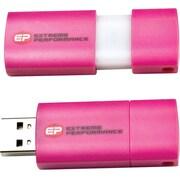 EP Memory EPCLP USB 2.0 Capless Wave Pink Flash Drive, 8GB