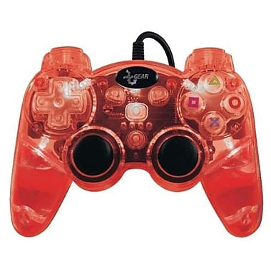 DreamGEAR® PS3 Lava Glow Wireless Controller, Red