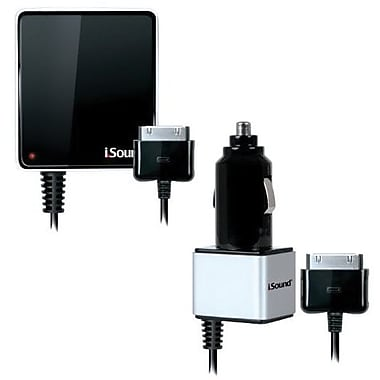i.Sound® 2148 Wall and Car Charger For iPad, iPhone and iPod