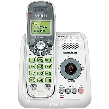 VTech® CS6124 Cordless Answering System With Caller ID, 30 Name/Number