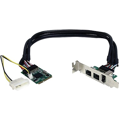 Startech.Com® MPEX1394B3 3 Port Mini PCI Express Low Profile FireWire Adapter Card