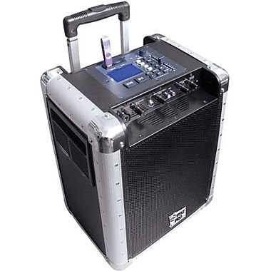 Pyle® PCMX265B Portable Public Address System With Rechargeable Battery, 400 W