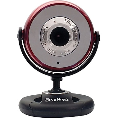 Gear Head™ WC750-CP10 Webcam, 1280 x 1024, 1.3 MP, Red