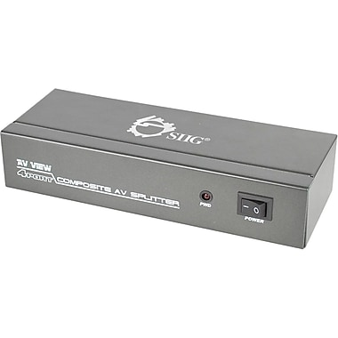 Siig® CE-CM0311-S1 Composite Video and Audio Splitter, 250MHz