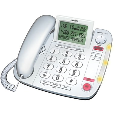 Uniden® CEZ260W Big Button Desktop Caller ID Corded Phone
