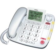 Uniden® CEZ260W Big Button Desktop Caller ID Corded Phone