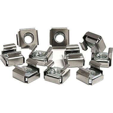 Startech.Com® CABCAGENUTS6 Cage Nuts For Server Rack Cabinet, 50/Pack