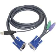 Iogear® G2L5502UP PS/2 to USB Intelligent KVM Cable, 6'(L)