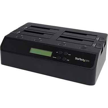 Startech.com® SATDOCK4U3RE Standalone 1:3 HDD Hard Drive Duplicator Dock, USB 3.0 Interface