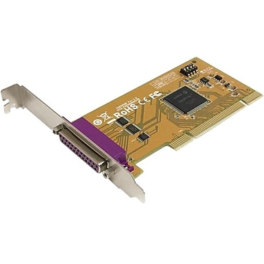 Startech.com® PCI1PM 1 Port PCI Parallel Adapter Card With Re-Mappable Address