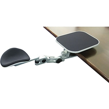 Ergoguys Ergonomic Adjustable Computer Arm Rest With Mouse Pad, Silver