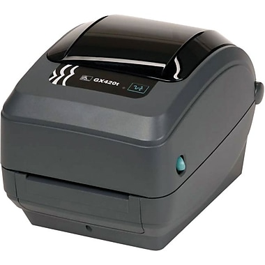 Zebra Technologies® GX420 TT 203 dpi Fast Ethernet Desktop Printer, 7 1/2in.(H) x 7.6in.(W) x 10in.(D)